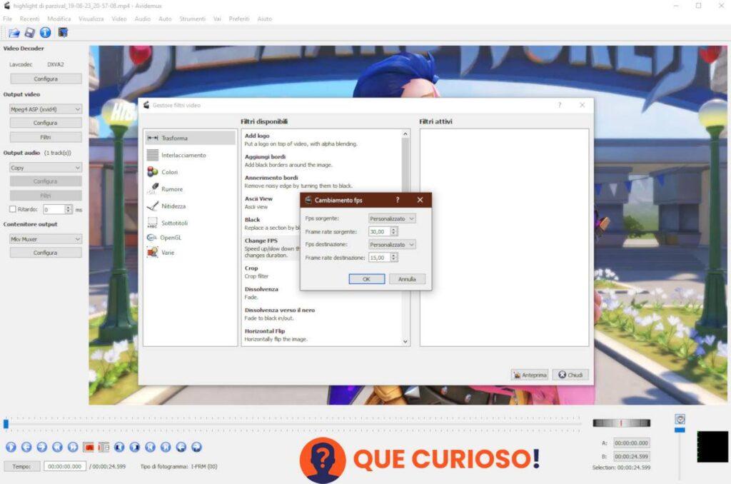 hacer cámara lenta en TikTok software Avidemux