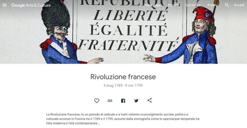 como visitar museo online ejemplo Google Arts & Culture revolicion francesa