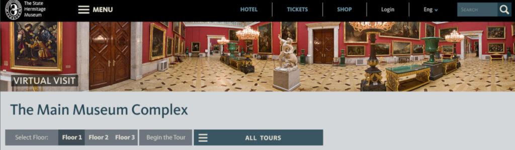 como visitar museo online ejemplo Hermitage